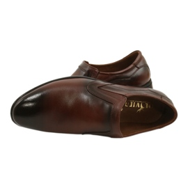 Lukas Men's formal, slip-on shoes 284 brown 11