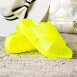 SHELOVET Fashionable Rubber Flip yellow 1