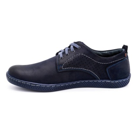 Olivier Men's casual shoes 302GT navy blue 3