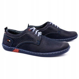 Olivier Men's casual shoes 302GT navy blue 4
