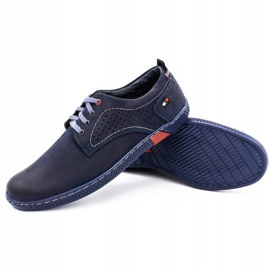 Olivier Men's casual shoes 302GT navy blue 5