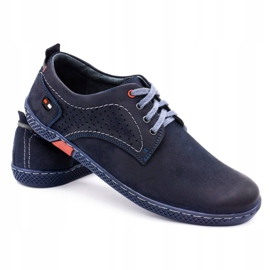 Olivier Men's casual shoes 302GT navy blue 6