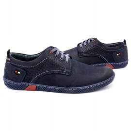 Olivier Men's casual shoes 302GT navy blue 7