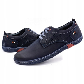 Olivier Men's casual shoes 302GT navy blue 8