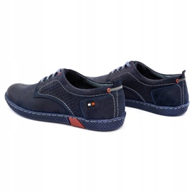 Olivier Men's casual shoes 302GT navy blue 9