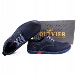 Olivier Men's casual shoes 302GT navy blue 2