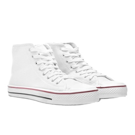 Men's white sneakers Gin ankle 1