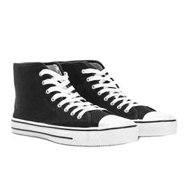 Men's black sneakers Gin ankle 1
