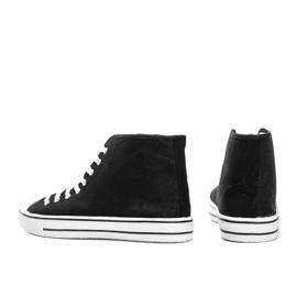 Men's black sneakers Gin ankle 2