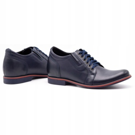 Olivier Men's shoes increasing P24 navy blue 4