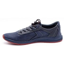 Olivier Men's sports shoes 7075 navy blue 3