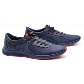 Olivier Men's sports shoes 7075 navy blue 4