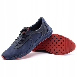 Olivier Men's sports shoes 7075 navy blue 5