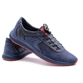 Olivier Men's sports shoes 7075 navy blue 6