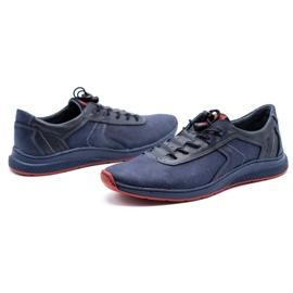 Olivier Men's sports shoes 7075 navy blue 8