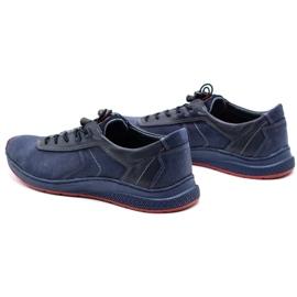 Olivier Men's sports shoes 7075 navy blue 9