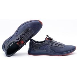 Olivier Men's sports shoes 7075 navy blue 2