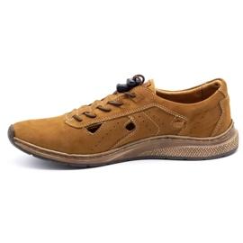 Olivier Men's sports shoes 7075L brown 2