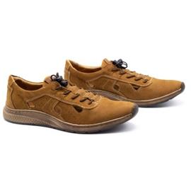Olivier Men's sports shoes 7075L brown 3