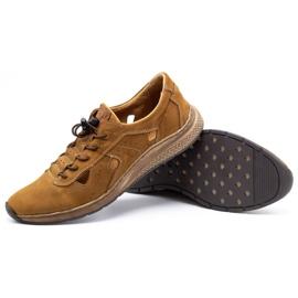 Olivier Men's sports shoes 7075L brown 4