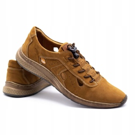 Olivier Men's sports shoes 7075L brown 5