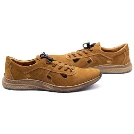 Olivier Men's sports shoes 7075L brown 6