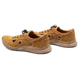 Olivier Men's sports shoes 7075L brown 7