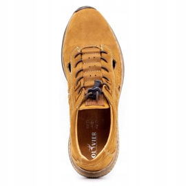 Olivier Men's sports shoes 7075L brown 8