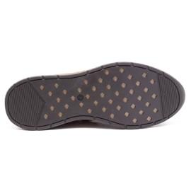 Olivier Men's sports shoes 7075L brown 9