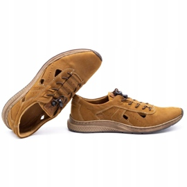 Olivier Men's sports shoes 7075L brown 1