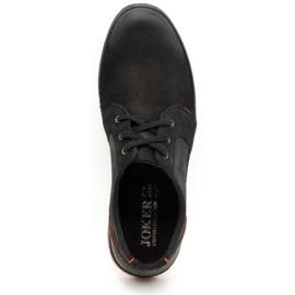 Joker Men's leather casual shoes 322/2 black 9