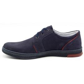Joker Men's leather casual shoes 322/2 navy blue 2