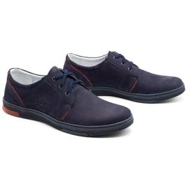Joker Men's leather casual shoes 322/2 navy blue 3