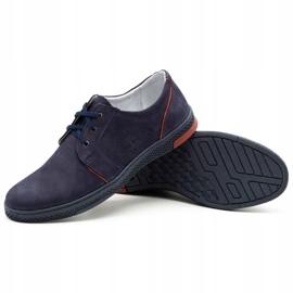 Joker Men's leather casual shoes 322/2 navy blue 4