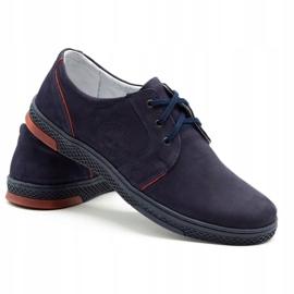 Joker Men's leather casual shoes 322/2 navy blue 5
