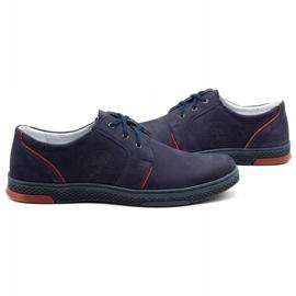 Joker Men's leather casual shoes 322/2 navy blue 6