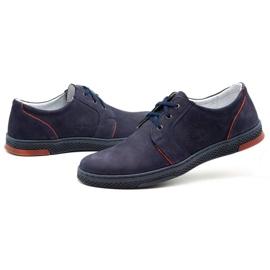 Joker Men's leather casual shoes 322/2 navy blue 7