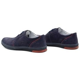 Joker Men's leather casual shoes 322/2 navy blue 8