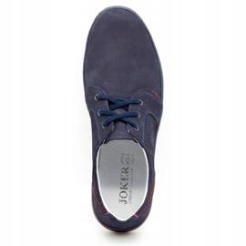 Joker Men's leather casual shoes 322/2 navy blue 9