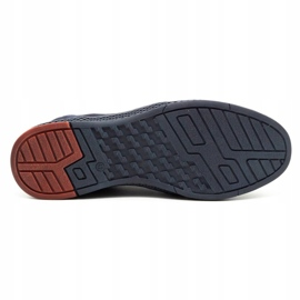 Joker Men's leather casual shoes 322/2 navy blue 1