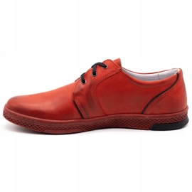 Joker Men's leather casual shoes 322/2 red 3
