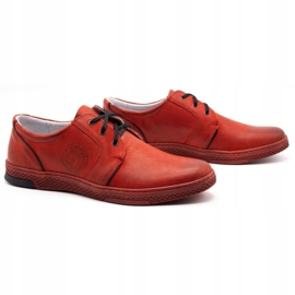 Joker Men's leather casual shoes 322/2 red 4