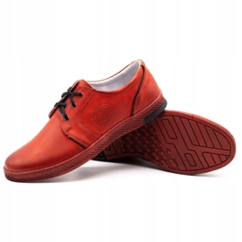 Joker Men's leather casual shoes 322/2 red 5