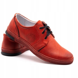 Joker Men's leather casual shoes 322/2 red 6