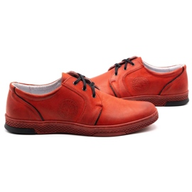 Joker Men's leather casual shoes 322/2 red 7