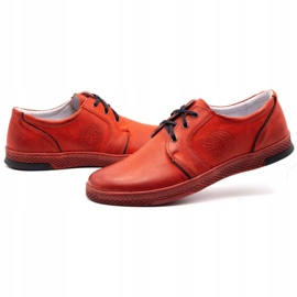 Joker Men's leather casual shoes 322/2 red 8