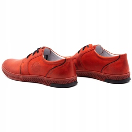 Joker Men's leather casual shoes 322/2 red 9