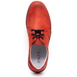 Joker Men's leather casual shoes 322/2 red 10