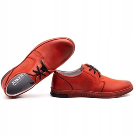 Joker Men's leather casual shoes 322/2 red 2