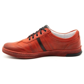 Joker Men's leather casual shoes S21 / 2 red 3